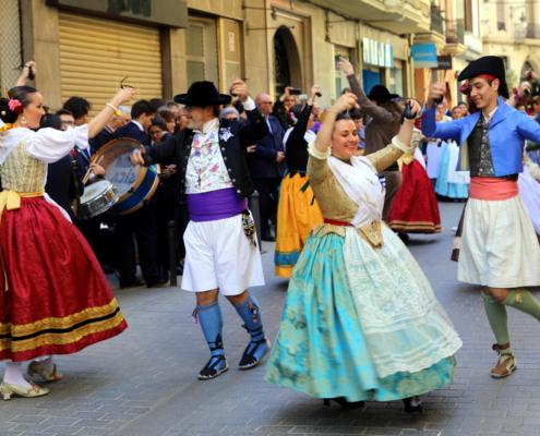 Abiti tipici valenciani durante la festa di San Vincenzo